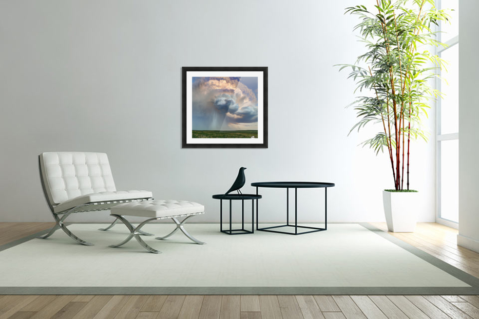 July Rain Storm in Custom Picture Frame