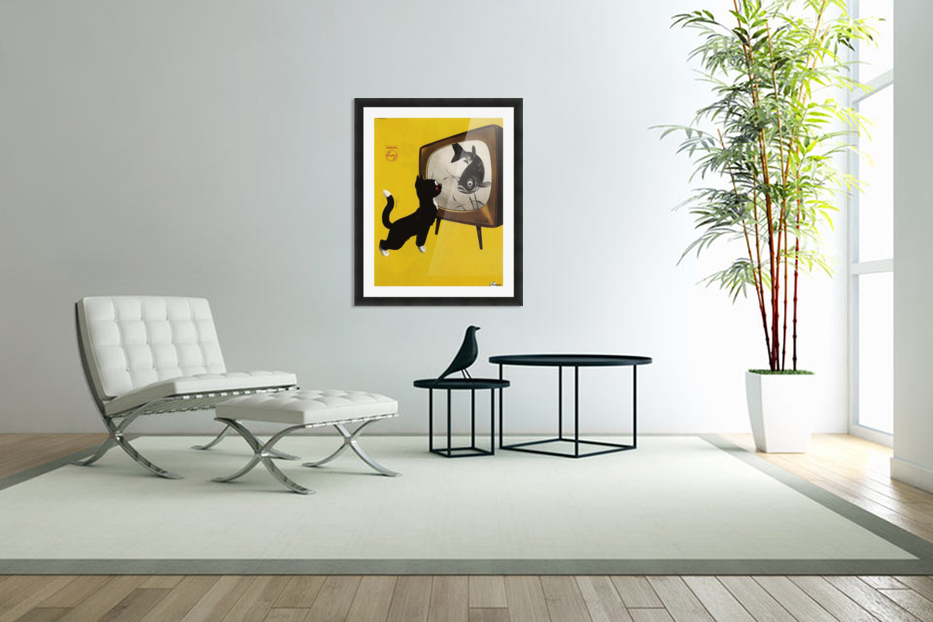 Dutch poster for Philips Tv, 1951 in Custom Picture Frame