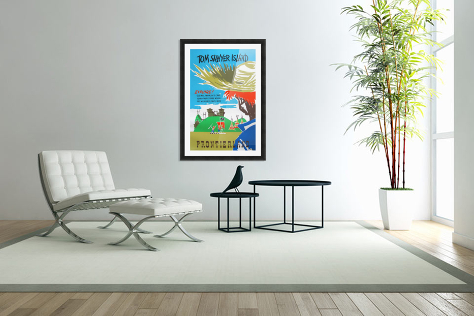 Tom Sawyer Island Poster in Custom Picture Frame