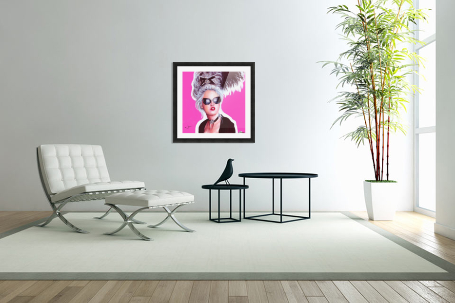 marie in black in Custom Picture Frame