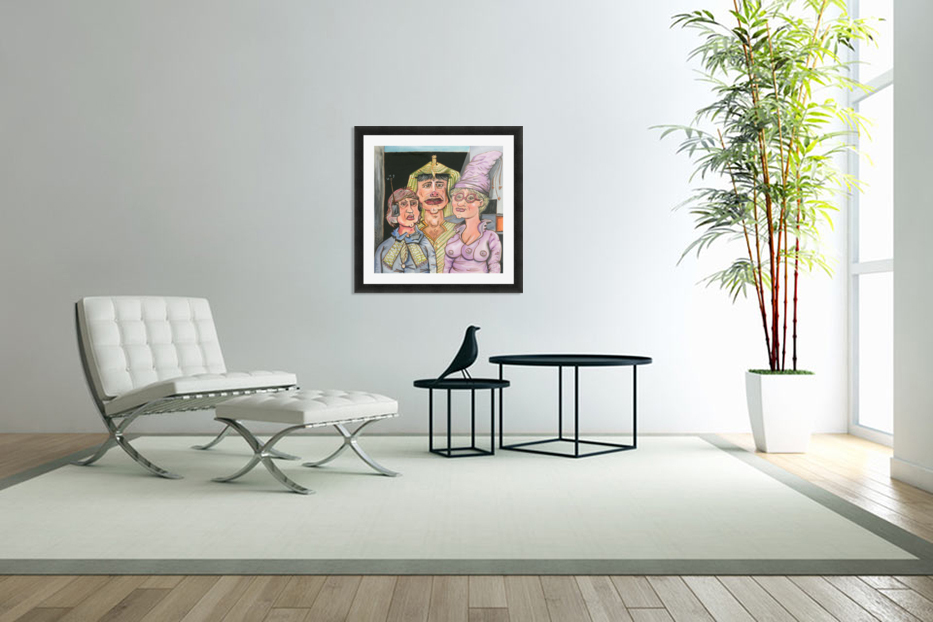 The Gluxx family in Custom Picture Frame