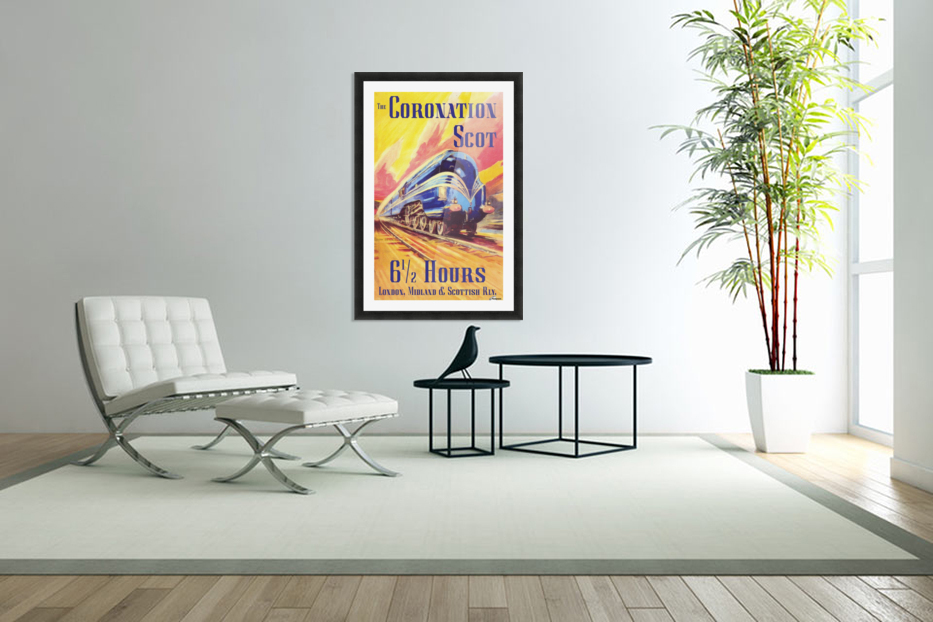 The Coronation Scot travel poster in Custom Picture Frame