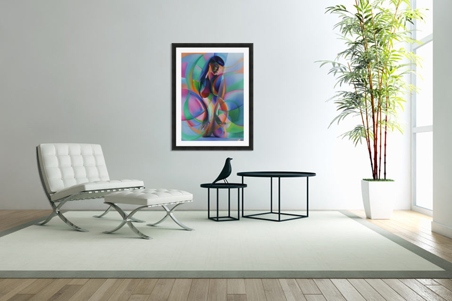 The return of Bettie Page - 12-08-15 in Custom Picture Frame