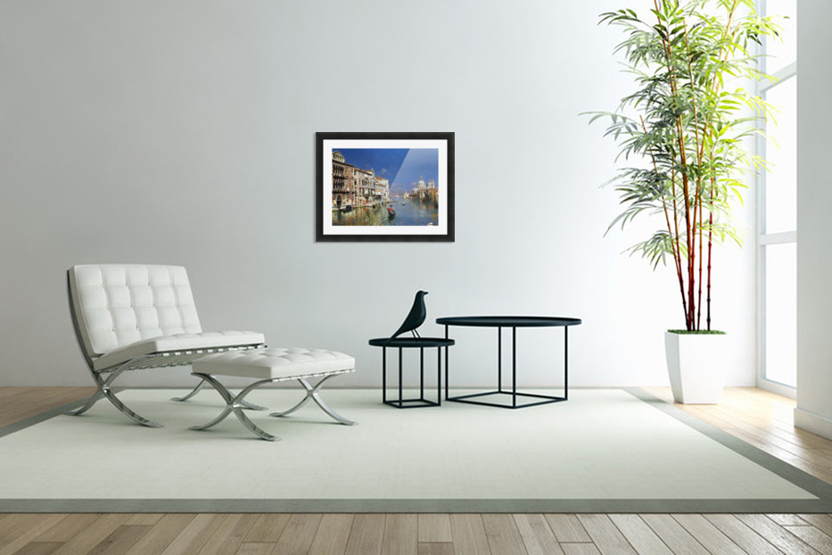 The Grand Canal, Venice in Custom Picture Frame