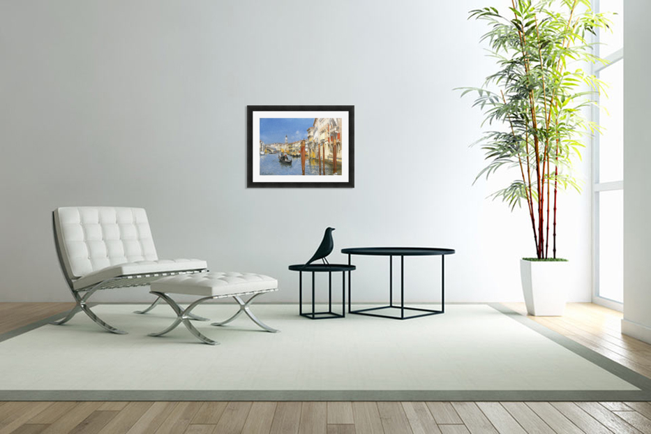 The Grand Canal in Venice in Custom Picture Frame