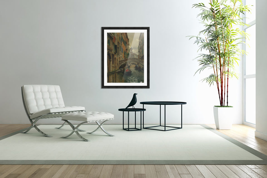 A quiet canal in Custom Picture Frame