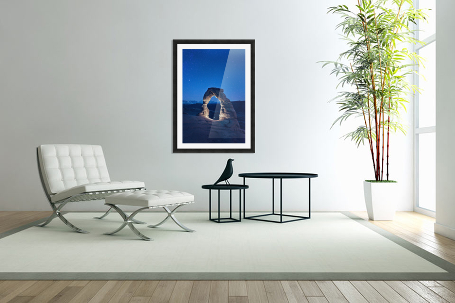 Delicate Arch Night in Custom Picture Frame