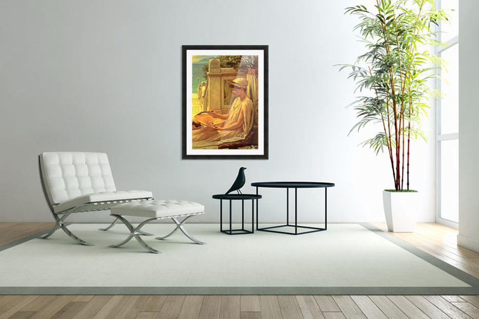 On the terrace in Custom Picture Frame