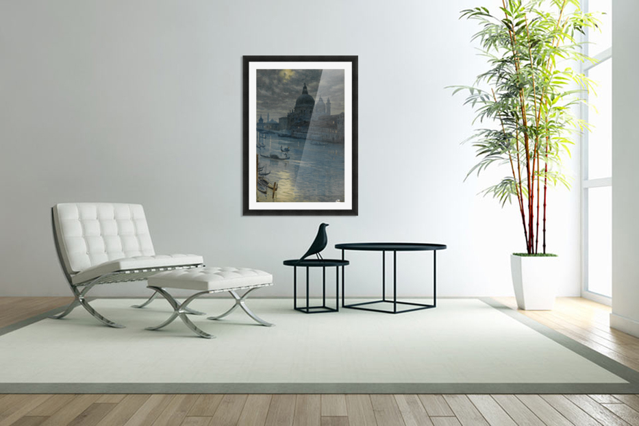 Townscape in Custom Picture Frame