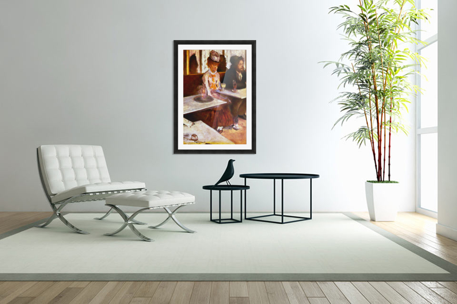 Absinthe Drinkers by Degas in Custom Picture Frame