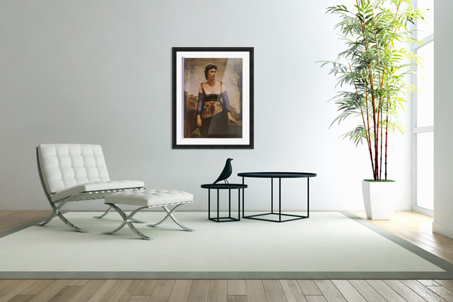 Agostina 1866 by Corot in Custom Picture Frame