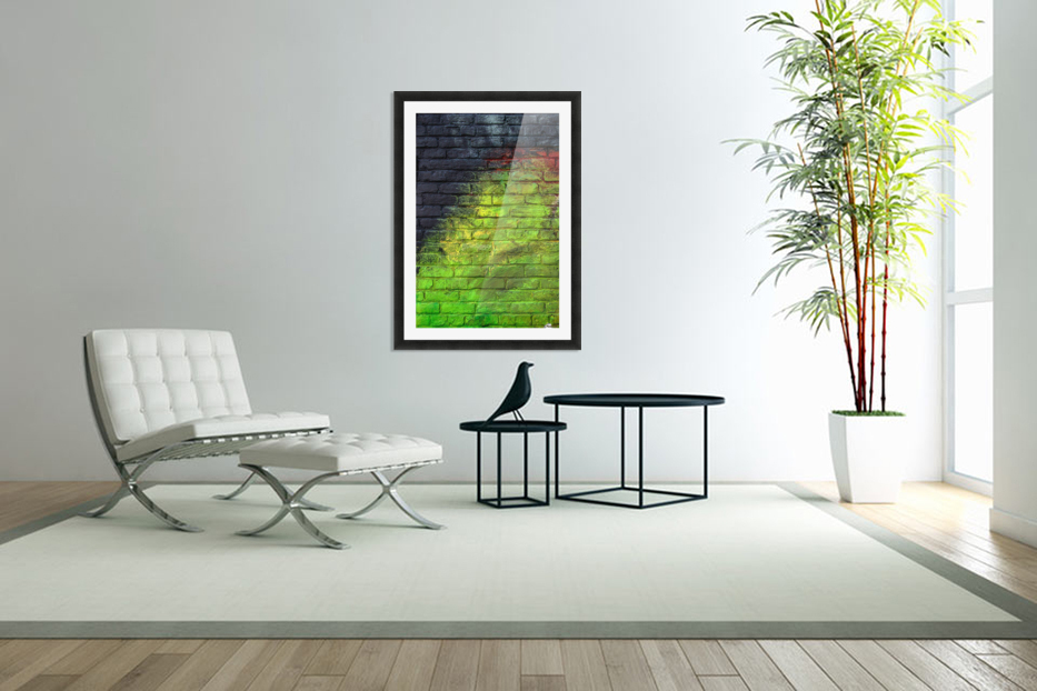 The Green Wall in Custom Picture Frame