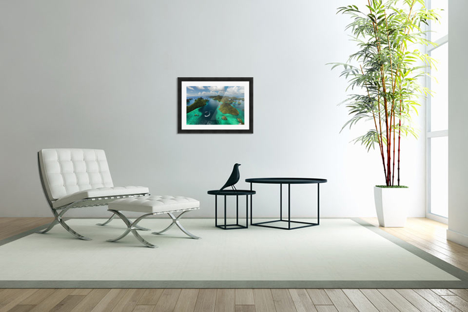 Green paradise in Custom Picture Frame
