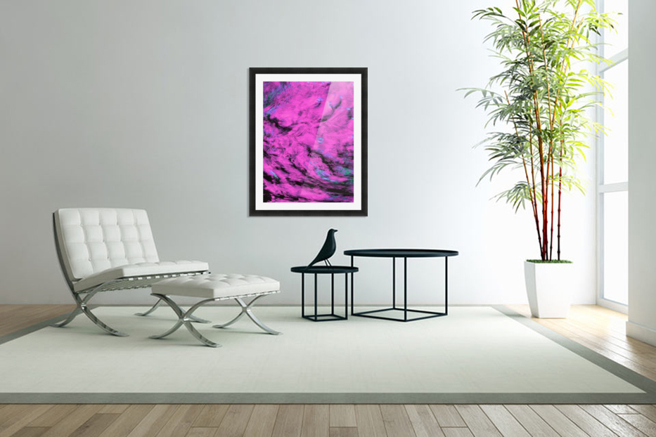 Pink Pyre in Custom Picture Frame