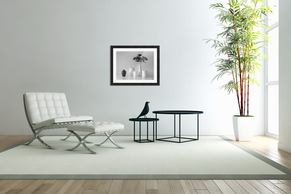 Still Life in Black and White in Custom Picture Frame