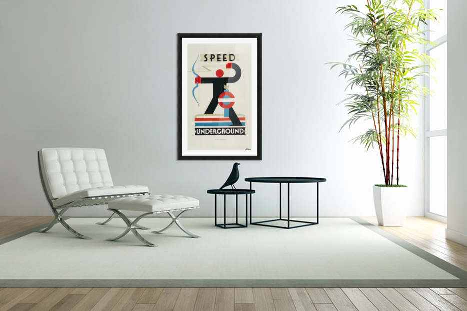 London Speed Underground poster in Custom Picture Frame