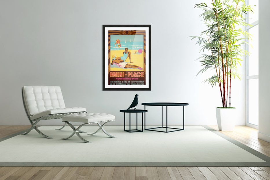 Bruni Plage in Custom Picture Frame