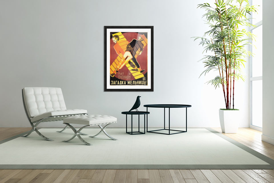 The Mystery of the Windmill 1928 movie poster in Custom Picture Frame
