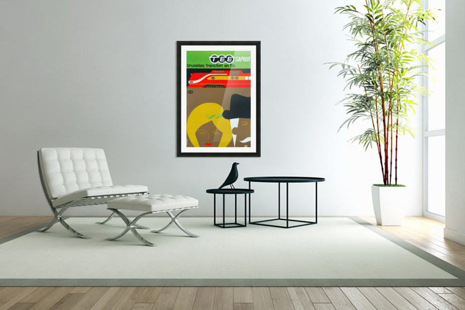 Affiche TEE Saphir, 1962 in Custom Picture Frame