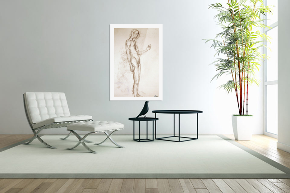 Contemplation Figure Study in Custom Picture Frame