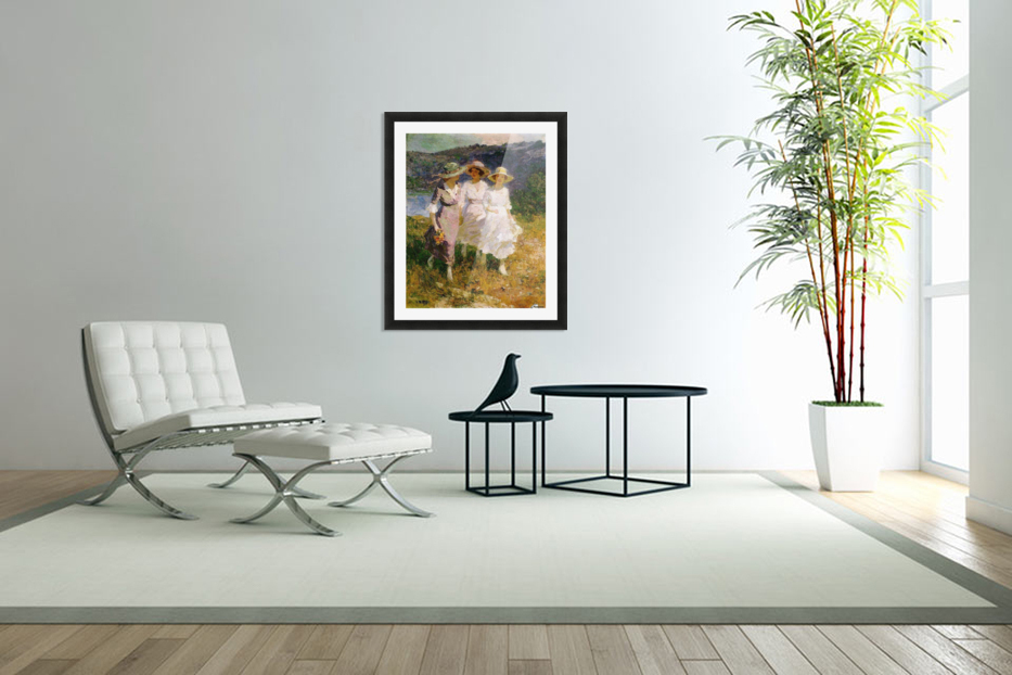 Walking in the Hills in Custom Picture Frame