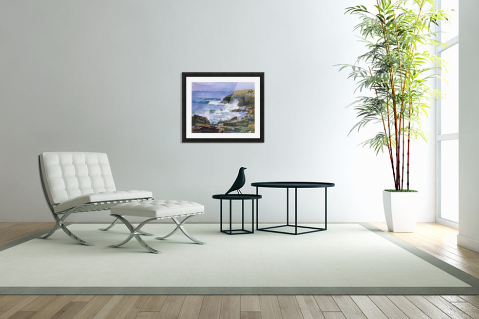 Looking out to Sea in Custom Picture Frame