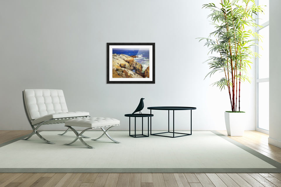 The Maine Coast in Custom Picture Frame