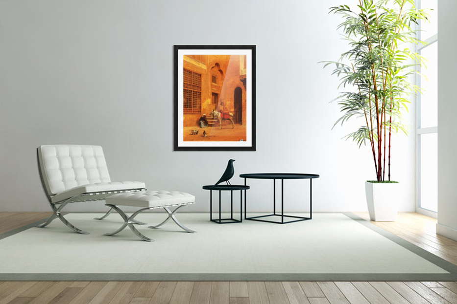 The Courtyard in Custom Picture Frame