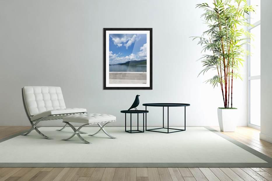 Looking Out Over Water in Custom Picture Frame