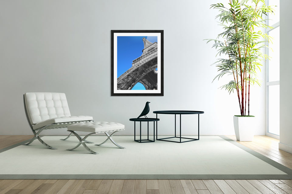 silver Eiffel tower Paris in Custom Picture Frame