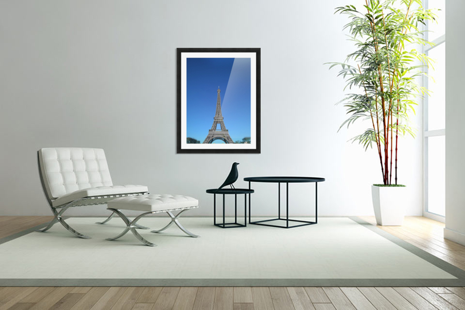 Eiffel tower Paris black and white with color in Custom Picture Frame