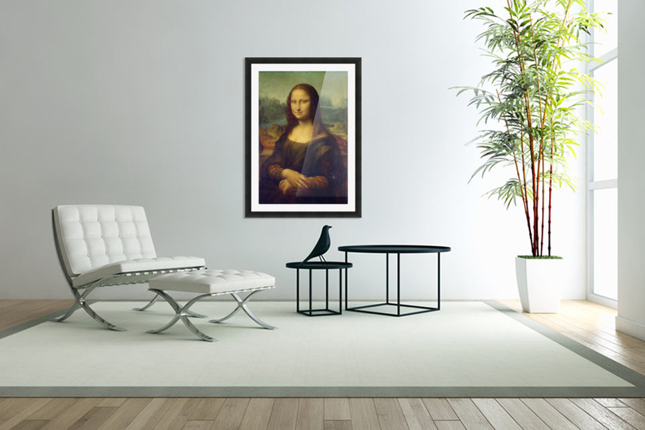 Mona Lisa Leonardo Da Vinci La Gioconda Oil Painting in Custom Picture Frame