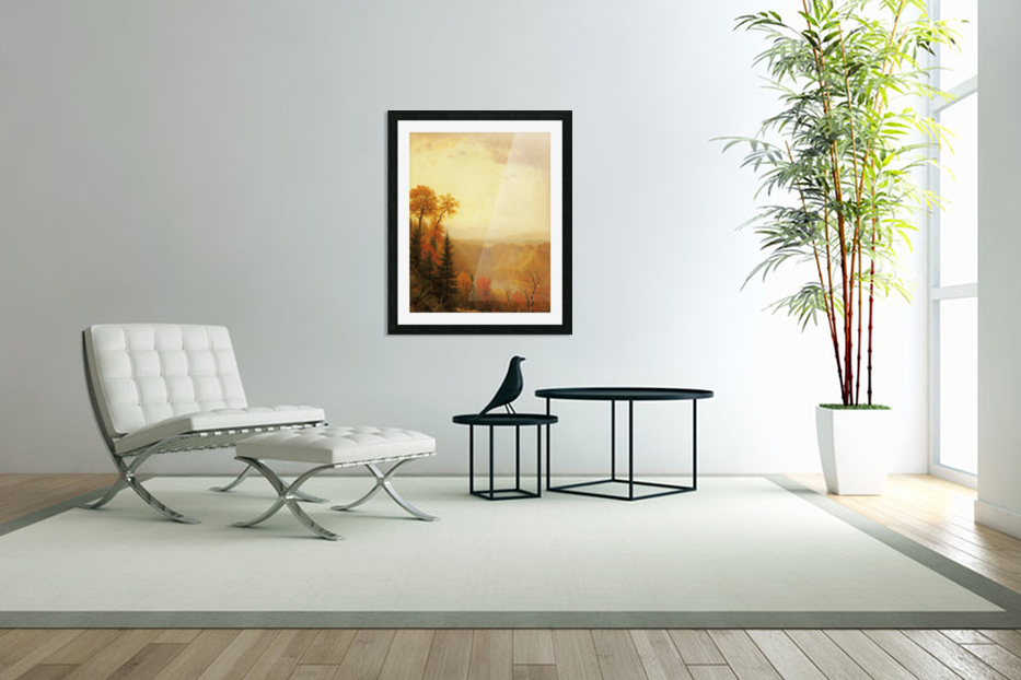 A lake in the forest in Custom Picture Frame
