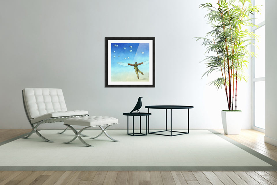 Flight in Custom Picture Frame