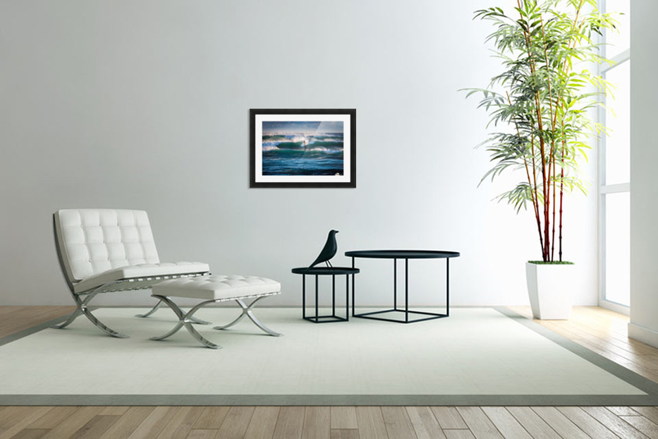 Surfing in Custom Picture Frame