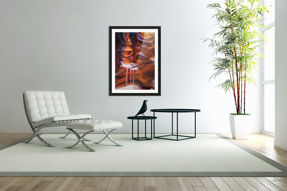 Antelope Canyon 4 in Custom Picture Frame