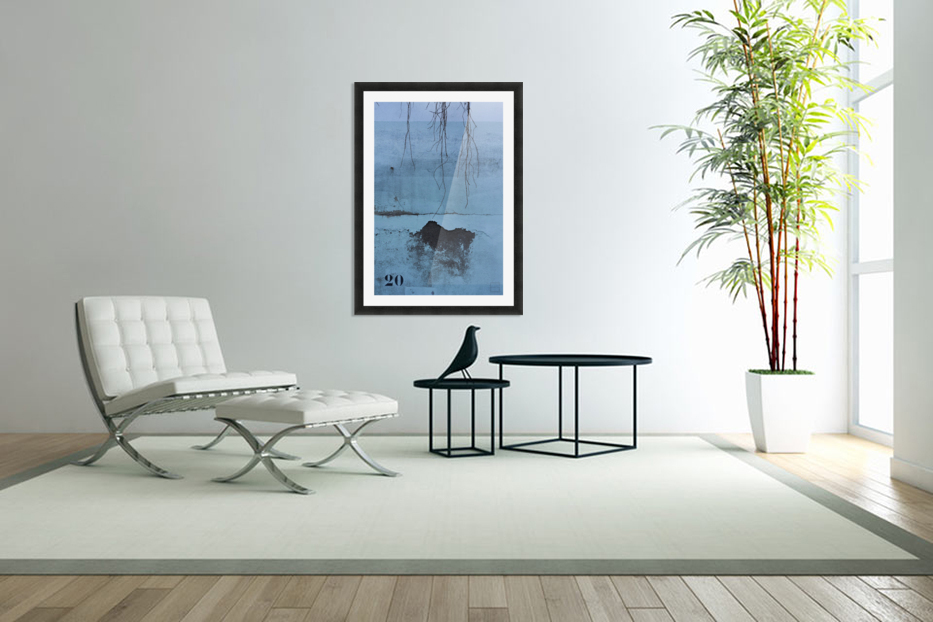 blue wall in Custom Picture Frame