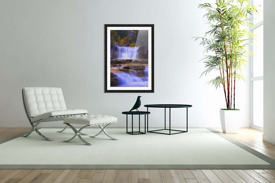 Johnston Canyon In Banff National Park, Alberta, Canada in Custom Picture Frame