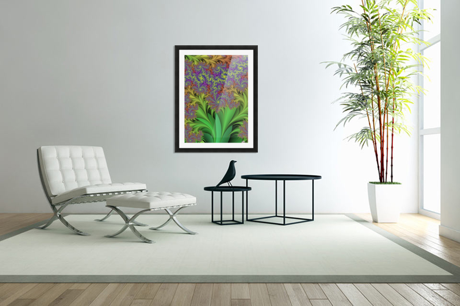 Abstract Design in Custom Picture Frame