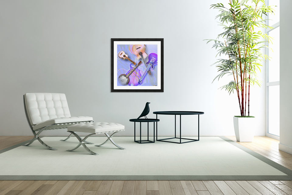 Stringed Instruments in Custom Picture Frame