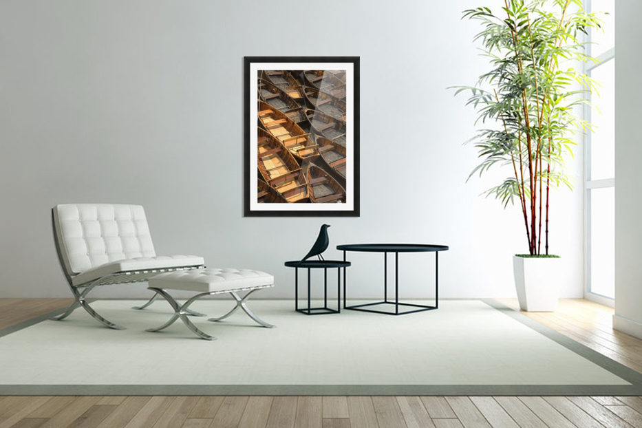 Wooden Boats in Custom Picture Frame