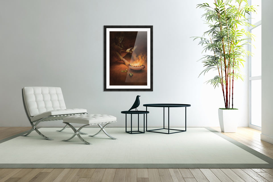 Money on Fire in Custom Picture Frame