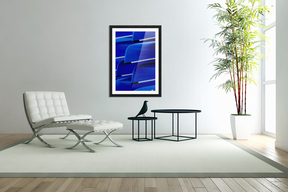Blue Canoes in Custom Picture Frame