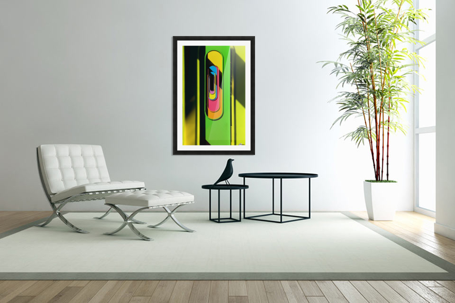 Looking Through Colorful Ovals in Custom Picture Frame