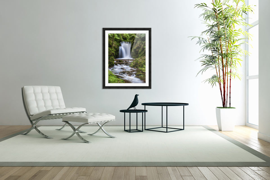 Watefall in the Black Forest in Germany in Custom Picture Frame