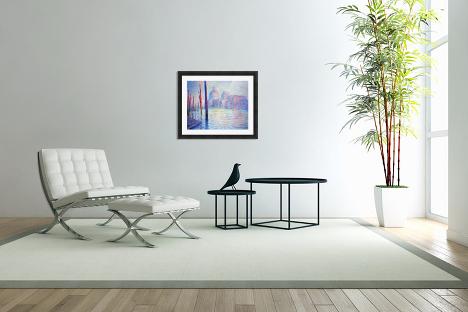 Canal Grand by Monet in Custom Picture Frame
