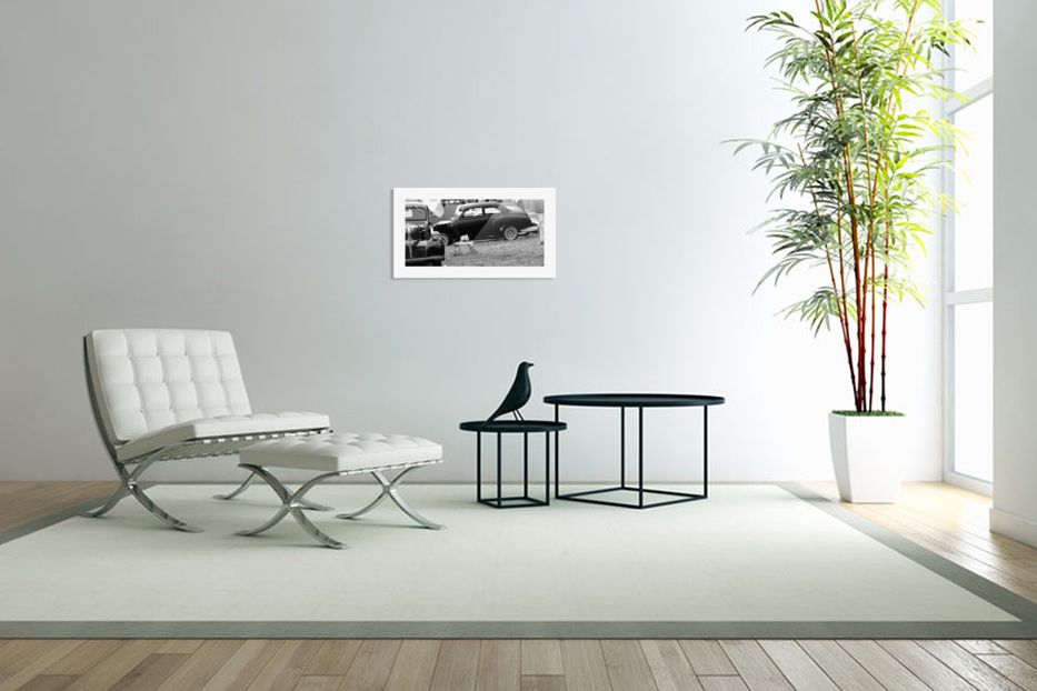 Black and White Vintage Cars in Custom Picture Frame