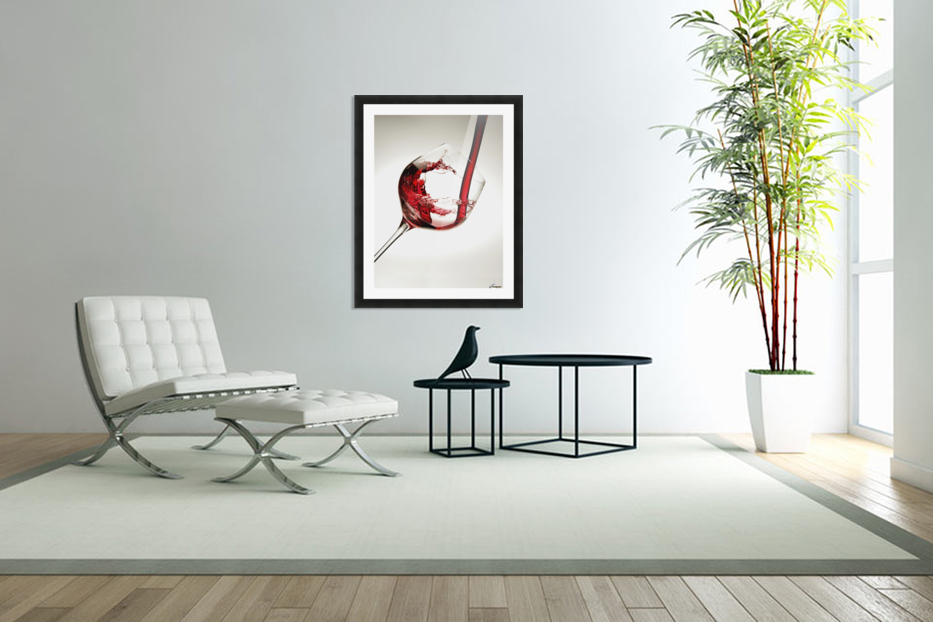 Red wine pouring into a glass in Custom Picture Frame