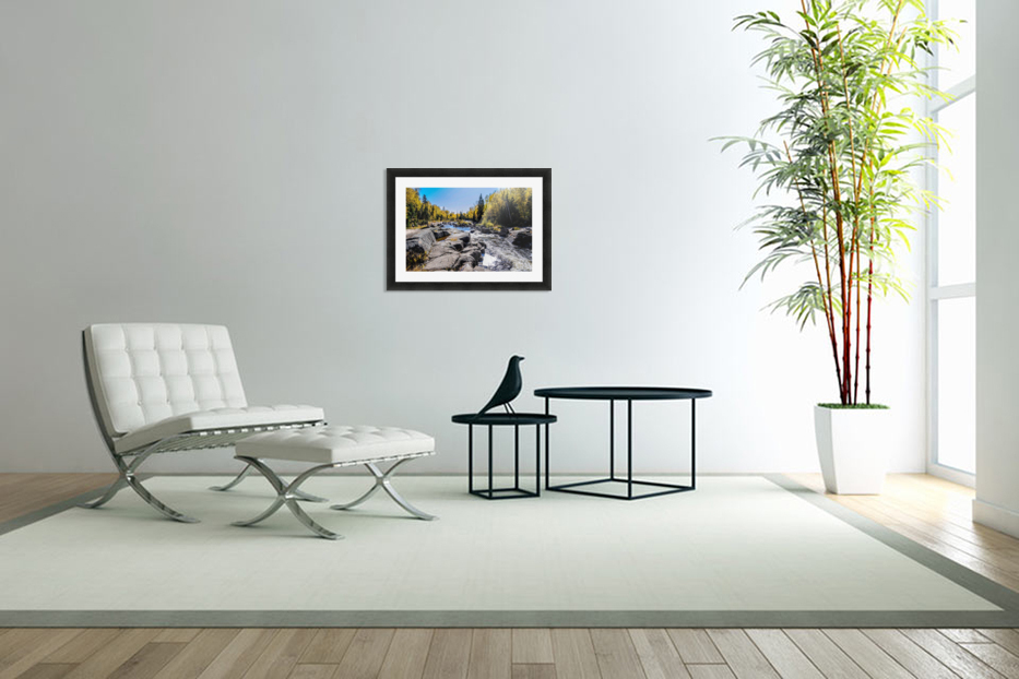 River Bed in Custom Picture Frame
