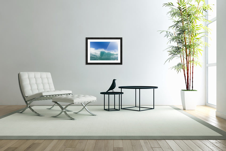 Blue Ocean Wave and Sunny Blue Sky in Custom Picture Frame